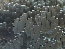 Конспект 3 проставляет размеры форму металла стоковые фотографии rf