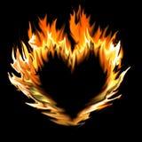 конспект пылает сделанное сердце Стоковые Фото