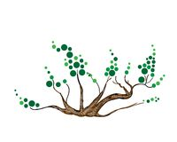Конспект равновеликих зеленых дерева и завода Стоковое Изображение RF