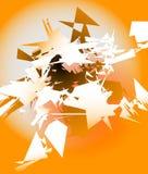Конспект разрушил цифровое искусство с случайными нервными черепками цифрово Стоковое Фото