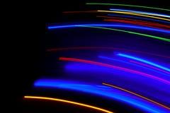 Конспект расплывчатое красочного светов СИД движений стоковые фото