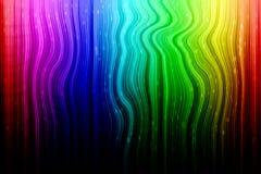 Конспект радуги с белым дождем Стоковые Фотографии RF