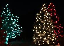 Конспект рождественской елки красного света праздника зеленый Стоковое Изображение RF