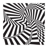 Конспект спирально играет главные роли предпосылка ilusion нашивок оптически иллюстрация вектора