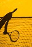 Конспект тени тенниса Стоковые Фотографии RF