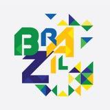 Конспект ультрамодное геометрического Бразилии Стоковые Фотографии RF