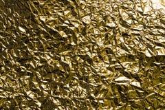Фольга скомканная золотом стоковые изображения rf