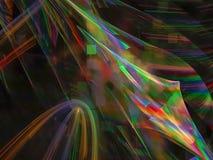 Конспект фрактали, футуристическое диско блеска свирли движения современное, текстурирует яркую фантазию волшебства дизайна карти иллюстрация вектора