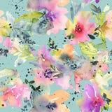конспект цветет акварель картина безшовная бесплатная иллюстрация