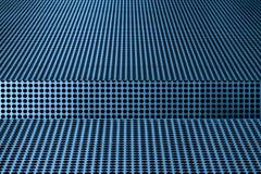 Конспект черных точек против голубой металлической поверхности стоковое изображение rf