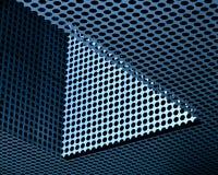 Конспект черных точек против голубой металлической поверхности стоковые фото
