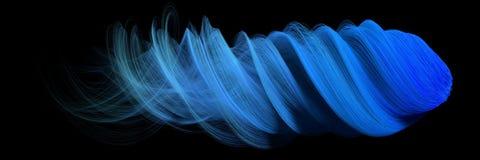 конспект 3d с голубыми линиями версия формы кометы Стоковая Фотография RF