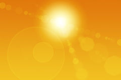 конспект flares солнце Стоковое фото RF