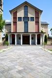 Конспект Samarate старый в дне колокола башни церков солнечном Стоковое Фото
