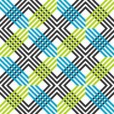 Конспект striped геометрическая картина с линиями и решетками Безшовная живая покрашенная предпосылка в темных серых, голубых и з иллюстрация штока