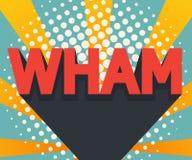 Конспект wham искусство шипучки, предпосылка комика иллюстрация штока