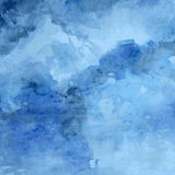 Конструированная текстура бумаги grunge, предпосылка вектора акварели голубая художническая абстрактная, рука нарисованный стиль  стоковое фото rf