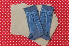 Конструированные носки шерстей hadmade Стоковое фото RF