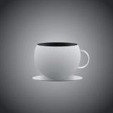 Конструированный значок логотипа чашки кофе Стоковая Фотография RF