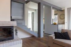 Конструированный интерьер живущей комнаты Стоковое фото RF
