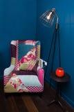 конструированный тип комнаты домашнего интерьера живя ретро Стоковое фото RF