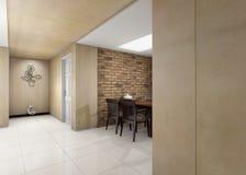конструированный тип комнаты домашнего интерьера живя ретро Стоковое Фото