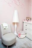 конструированный тип комнаты домашнего интерьера живя ретро Стоковое Изображение RF