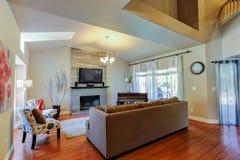 конструированный тип комнаты домашнего интерьера живя ретро Стоковое Изображение