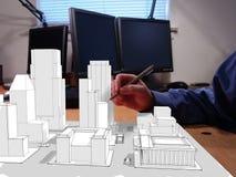 конструировать города стоковое изображение rf