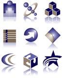 конструирует вектор логоса Стоковое Изображение