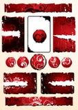 конструирует флористический красный цвет Стоковые Фото