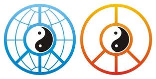 конструирует yin yang Стоковые Фото