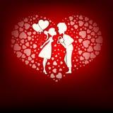 Конструируйте комплект сердец, мальчика и девушки Стоковое Фото