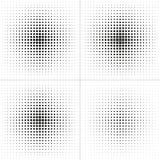 конструируйте комплект элементов Круг полутонового изображения Квадрат полутонового изображения Hexahedron полутонового изображен Стоковое Изображение RF
