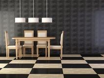 конструируйте обедать сбор винограда комнаты элегантности нутряной Стоковые Изображения RF