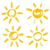 конструируйте смешное солнце комплекта изображения ваше иллюстрация вектора