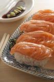 конструируйте суши ресторана меню элемента salmon полезные очень Стоковое Изображение RF