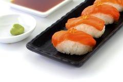 конструируйте суши ресторана меню элемента salmon полезные очень Стоковое фото RF