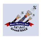 Конструируйте элемент для продажи на французский день Бастилии национального праздника, 14-ое июля Стоковые Изображения RF