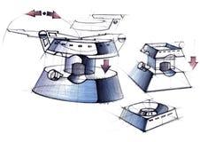 Конструируйте эскиз проекта для развития ультра-современного шатёр Бесплатная Иллюстрация