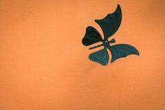 Конструируйте для стены, белых бабочек, конспекта, творческого Стоковая Фотография