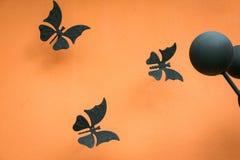 Конструируйте для стены, белых бабочек, конспекта, творческого Стоковые Изображения