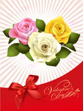 Конструируйте для счастливой поздравительной открытки дня валентинки с поднял на abtr Иллюстрация штока