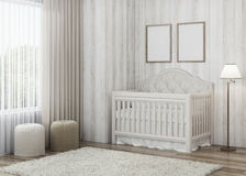 Конструируйте child& x27; комната s с яркими тоннами Стоковые Фото
