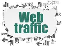 Конструктивная схема веб-дизайна: Движение сети на сорванной бумажной предпосылке бесплатная иллюстрация