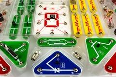 Конструктор детей на электронике Стоковые Изображения