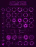 конструктор интерфейса Высок-техника Конструируйте элементы для hud, пользовательского интерфейса, анимации, дизайна движения иллюстрация вектора