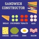 Конструктор сандвича бесплатная иллюстрация