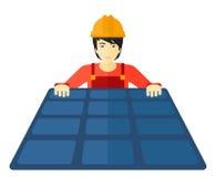 Конструктор с панелью солнечных батарей Стоковое Изображение RF