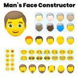 Конструктор характера ` s Emoji человека бесплатная иллюстрация